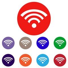 Набор векторных иконок с изображением интернета
