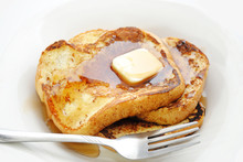 """Постер, картина, фотообои """"French Toast Served with Syrup and Butter"""""""