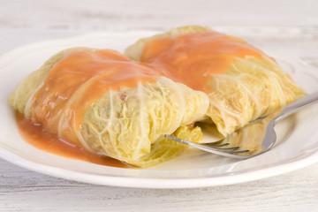 Traditional polish dish golabki