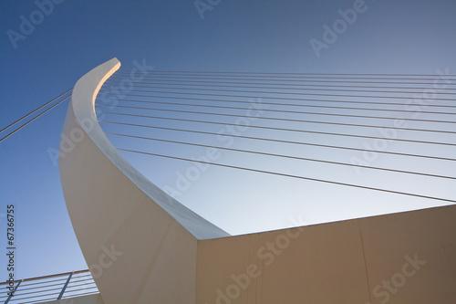 Plexiglas Athene Deatil of Katechaki bridge in Athens.