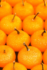 Small tangerines close up
