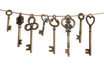 Vintage iron key