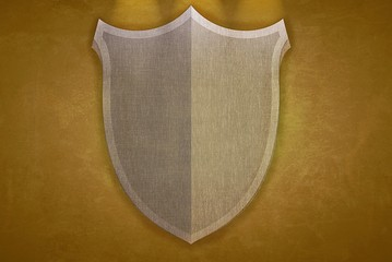 Yellow shield.