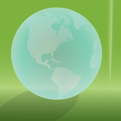 Vector silhouette of the globe.