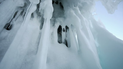 Panoramic Motion Along an Ice Block
