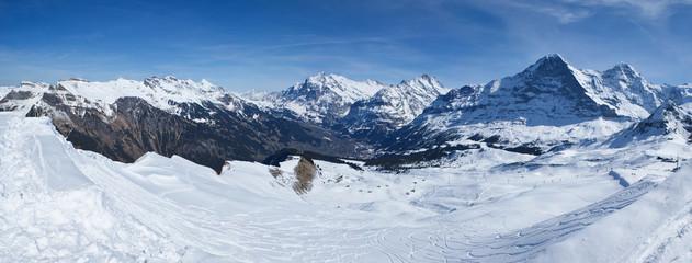 ski run in alps