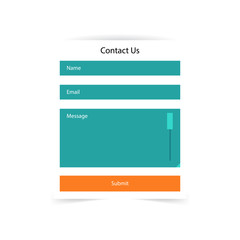 Simple contact us form templates. Vector template.