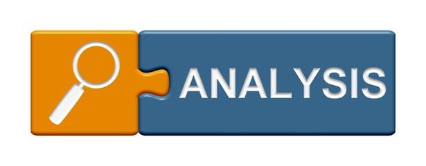 Puzzle-Button orange blau: Analysis