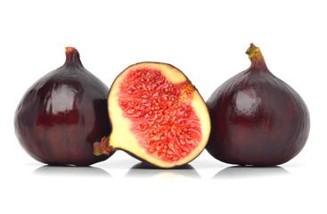 Three fresh figs