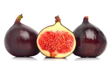 Three fresh figs isolated