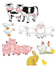 Farmtiere cartoon