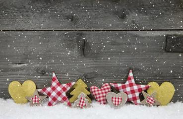 Weihnachtlicher Hintergrund in weiß, rot, gold und grau