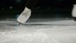 figure skating white skates stopping