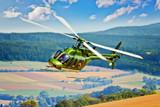 Hubschrauber in der Kurve