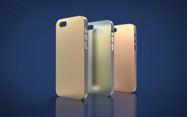 Metallic case mock-up for smartphone