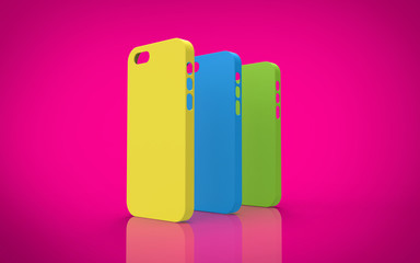 Colorful plastic cases for smartphone