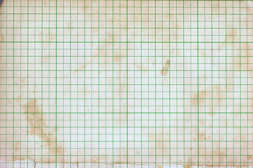 Old vintage dirty graph paper background