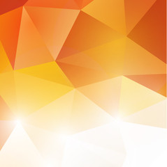 abstract polygon background in orange tone, vector illustration