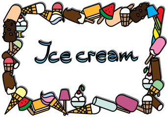 varied ice cream background