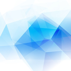 abstract polygon background in blue tone, vector illustration