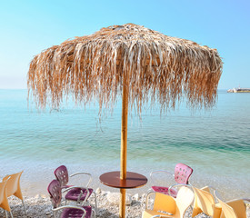 Comfortable cafe on the beach