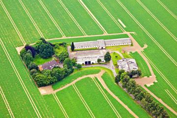 Bauernhof aus der Luft – Deutschland