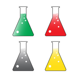 laboratory glass vector set