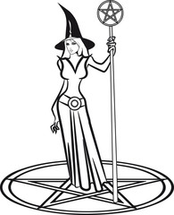 Hexe hut sexy Pentagram