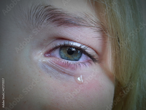 canvas print picture Crying eye