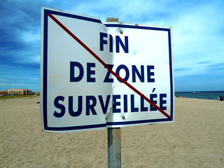 Panneau zone surveillée
