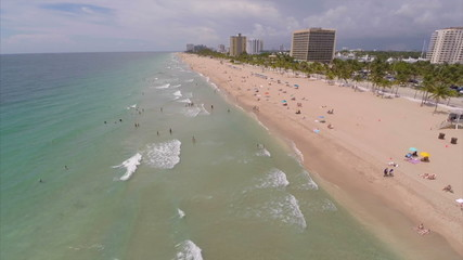 Aerial video Fort Lauderdale Beach FL