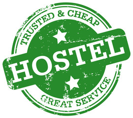 hostel rubber stamp