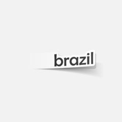 realistic design element: brazil