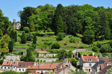 Picardie, the picturesque city of Pierrefonds in Oise
