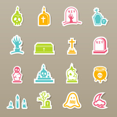 rip icons set vector