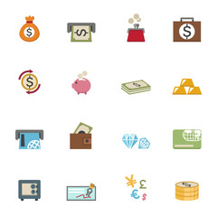 money icons vector eps10