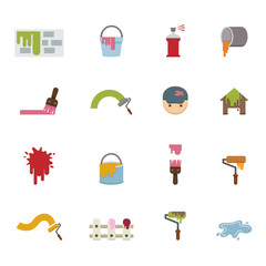 Painting Icons vector eps10