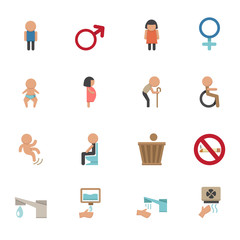 toilet icons vector eps10