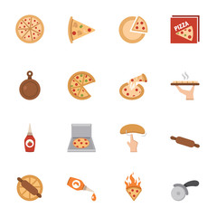 Pizza icons vector eps10