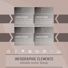 Modern infographic option banner with four steps