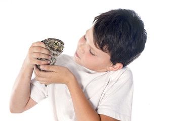 Little owl and child