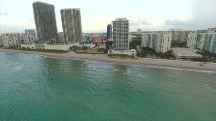 Hallandale Beach aerial footage
