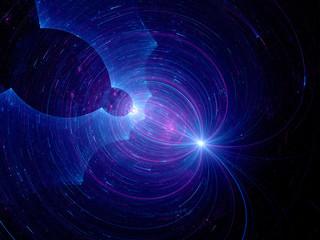 Dark matter in deep space