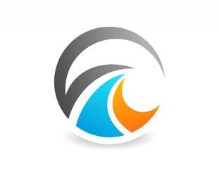 globe finance success,logo business,abstract media symbol icon
