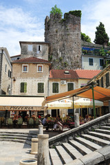 City square of Herceg Novi