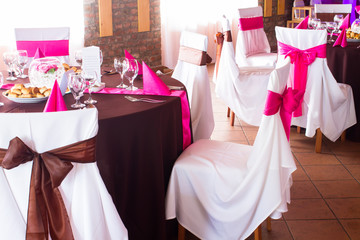 pink and brown wedding luxury decor
