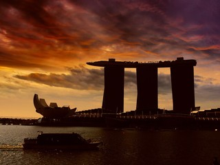 Singapore marina bay, International landmark