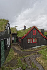 torshavn faer oer capital green grass roofs historical houses