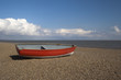Red Boat on Dunwich Beach, Suffolk, England - 67374571