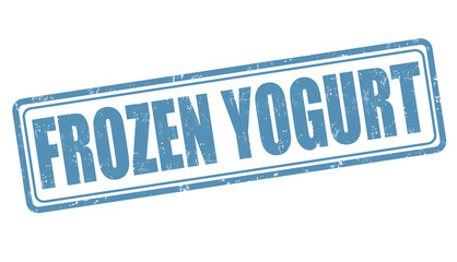 Frozen yogurt stamp